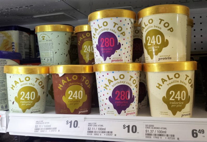 Halo Top 473mL Vanilla Bean, Birthday Cake, Chocolate, Mint Chip