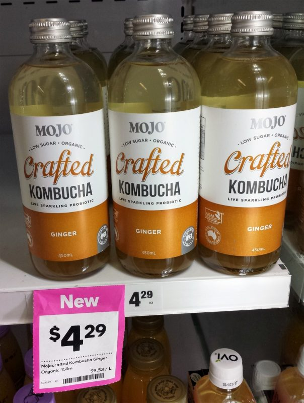 Mojo Kombucha 450mL Ginger