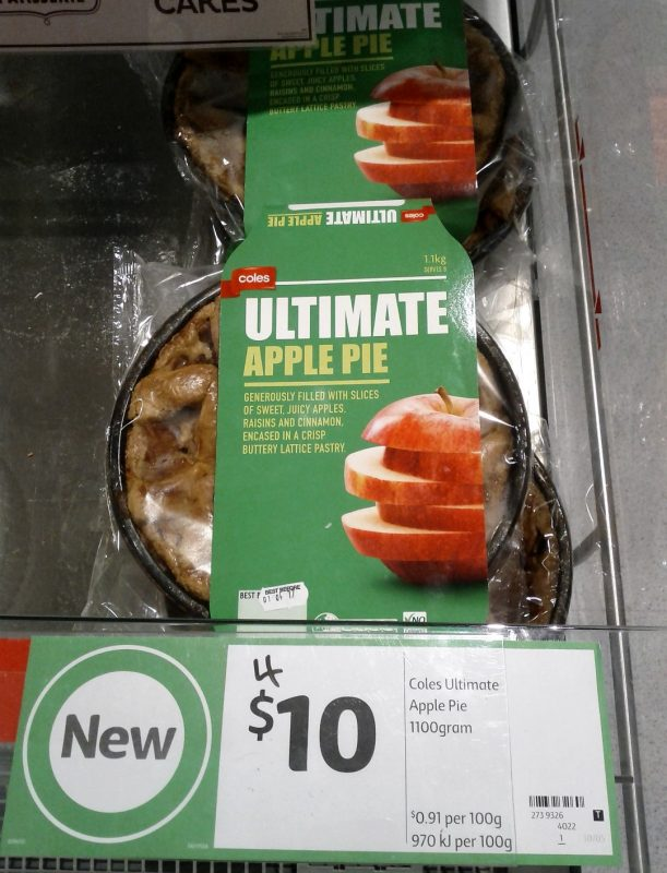 Coles 1100g Ultimate Apple Pie