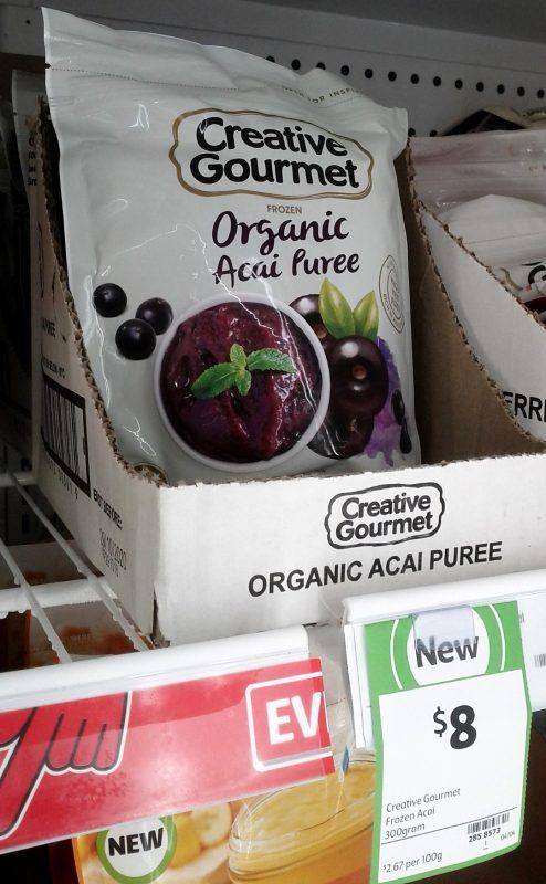 Creative Gourmet 300g Frozen Organic Acai Puree