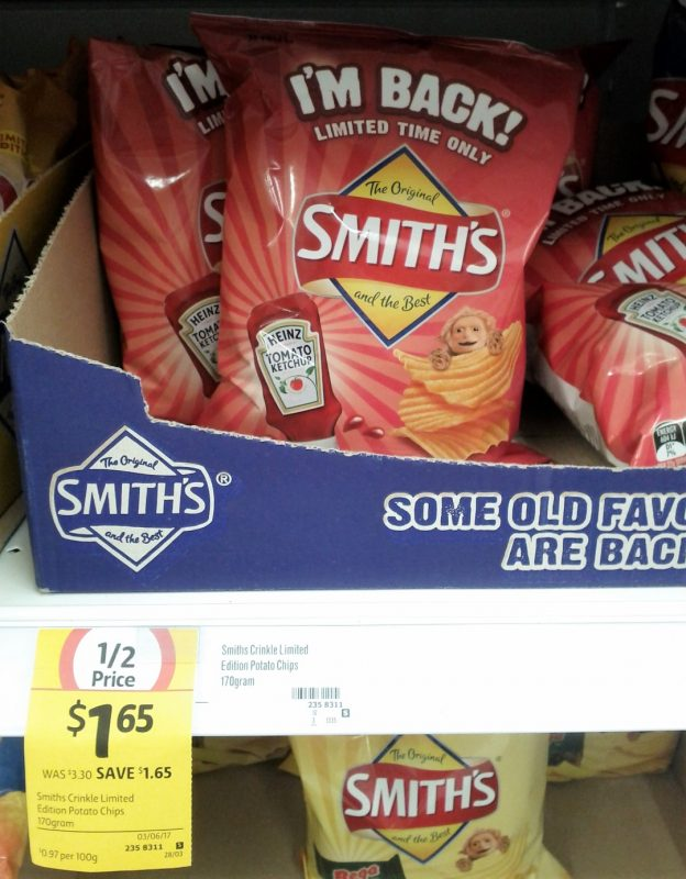 Smith's 170g Heinz Tomato Ketchup Potato Chips