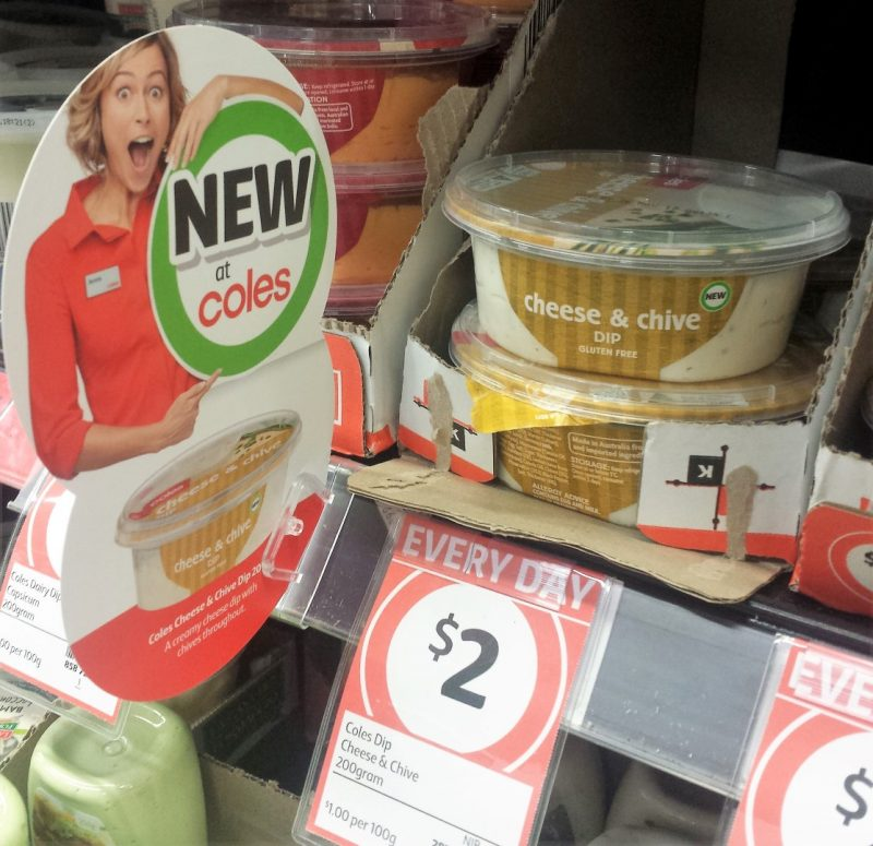 Coles 200g Dip Cheese & Chive