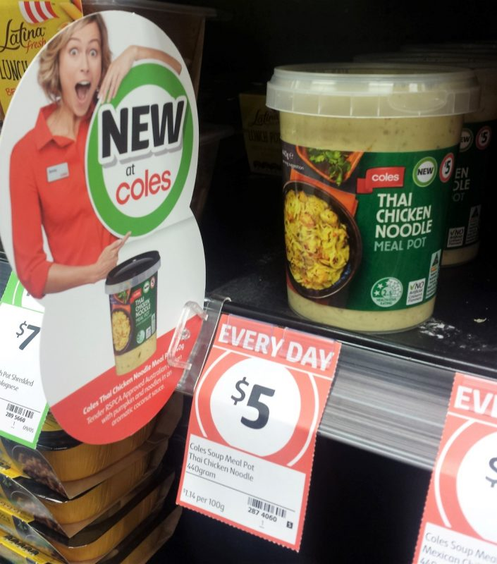 Coles Meal Pot 440g Thai Chicken Noodle