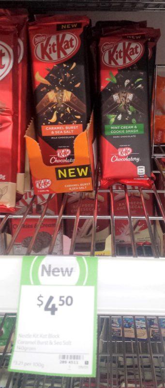 Kit Kat Caramel Burst & Sea Salt, Mint Cream & Cookie Smash