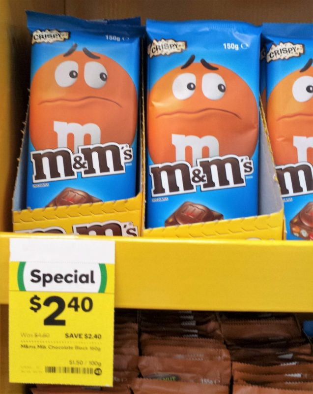 Mars M&M's 150g Crispy Chocolate Block