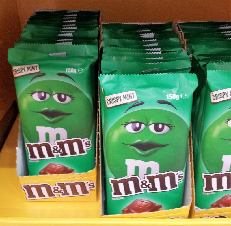 Mars M&M's 150g Crispy Mint Chocolate Block