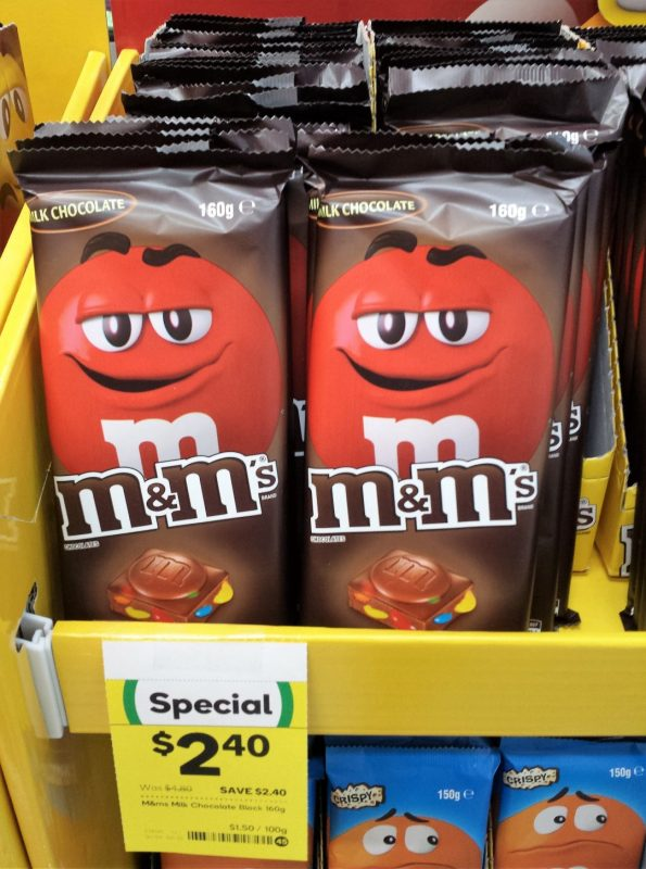 Mars M&M's 160g Milk Chocolate Block