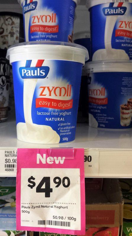 Pauls 500g Zymil Natural Yoghurt