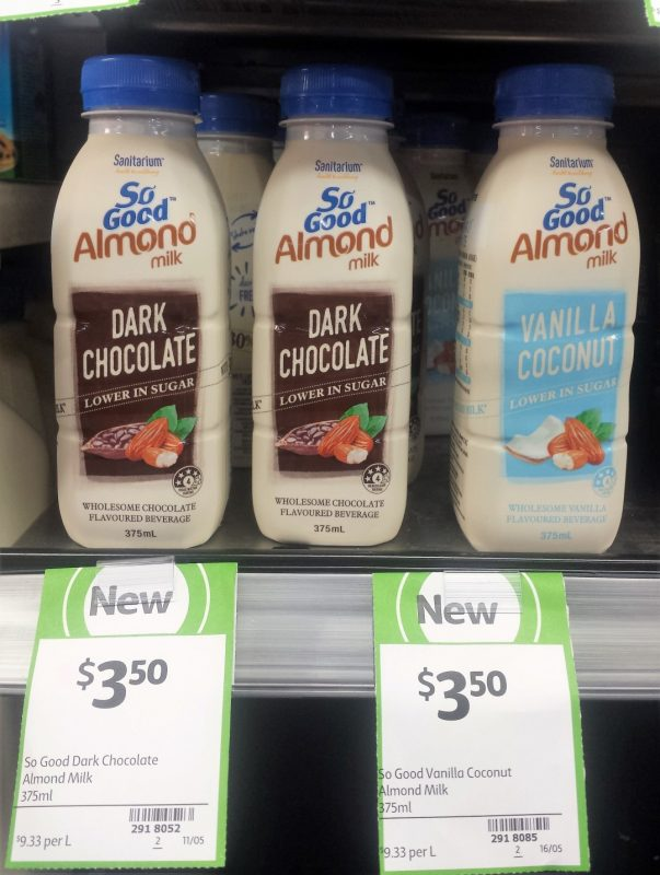 So Good 375mL Almond Milk Dark Chocolate, Vanilla Coconut