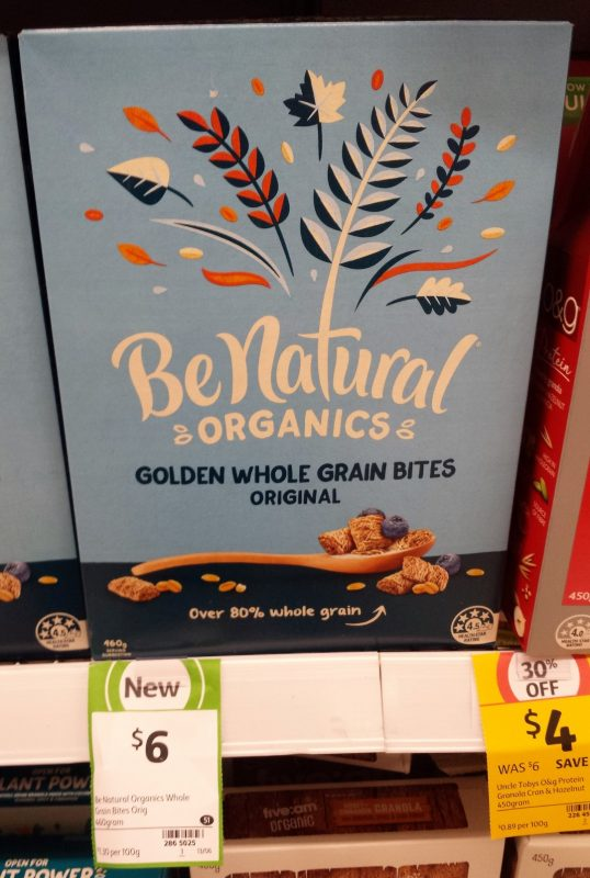 Be Natural 460g Golden Whole Grain Bites Original