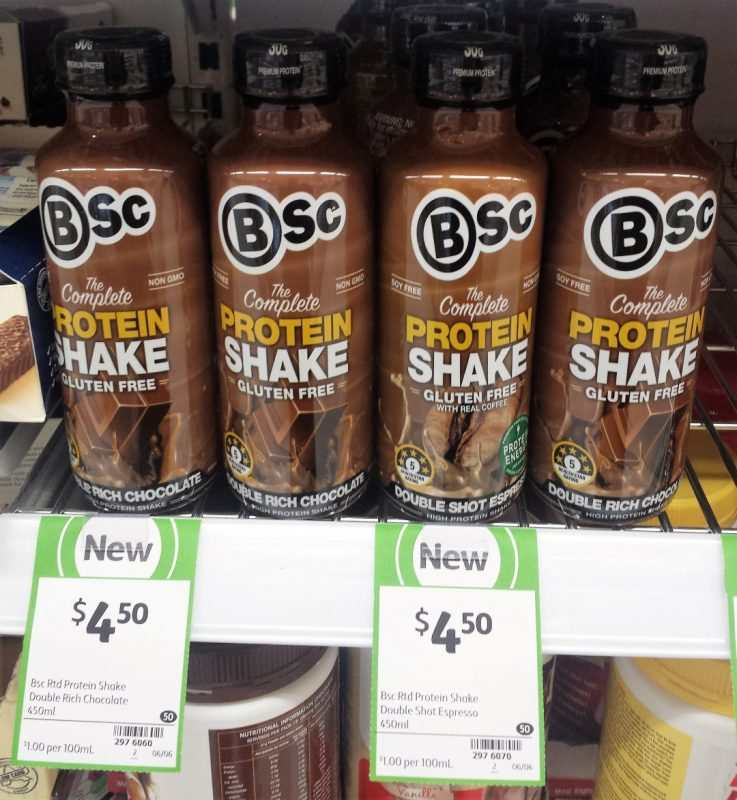 Bsc 450mL The Complete Protein Shake Gluten Free Double Rich Chocolate, Double Shot Espresso
