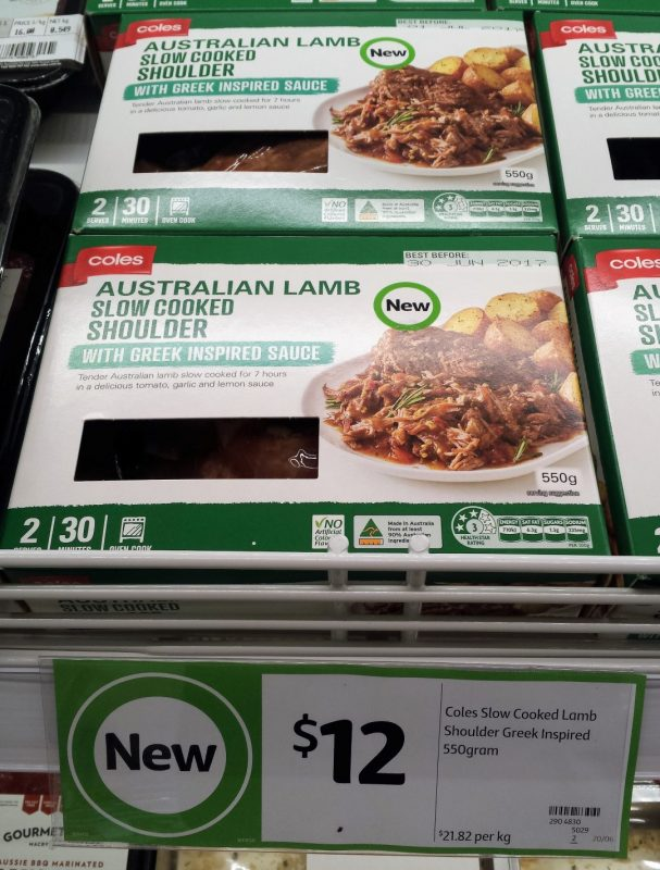 Coles 550g Slow Cooked Lamb Shoulder
