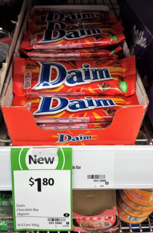 Daim 28g Chocolate Bar