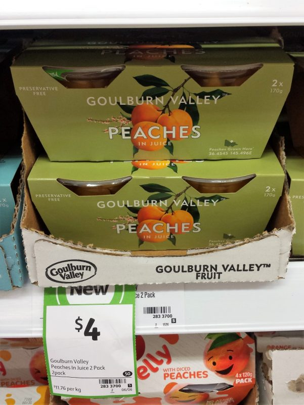 Goulburn Valley 2x170g Peaches In Juice