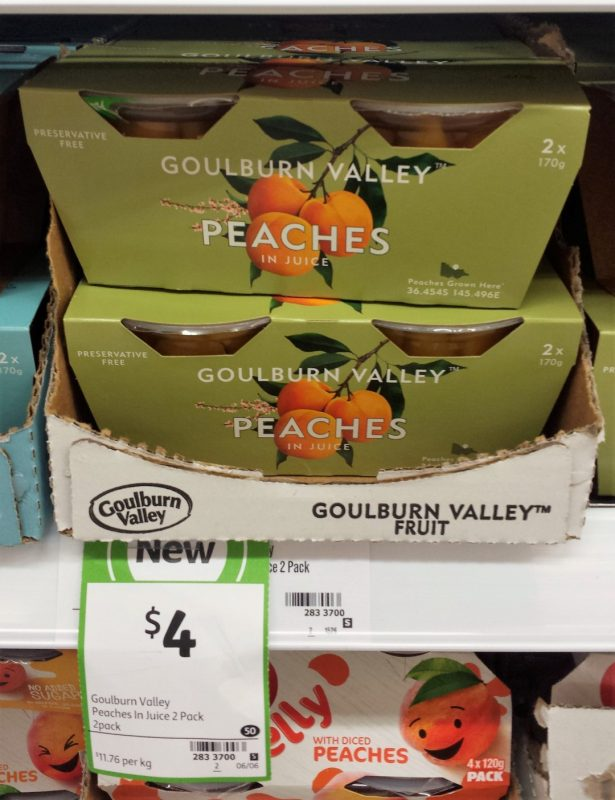 Goulburn Valley 340g Peaches In Juice