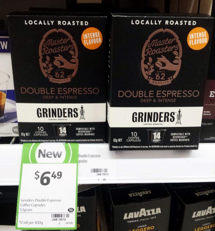 Grinders 52g Coffee Capsules Double Espresso