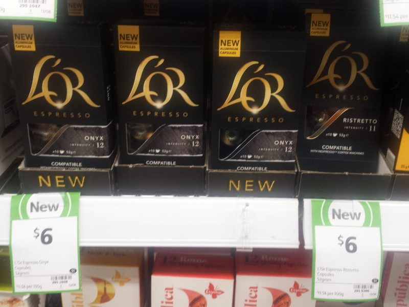 L'Or Espresso 52g Coffee Capsules Onyx, Ristretto