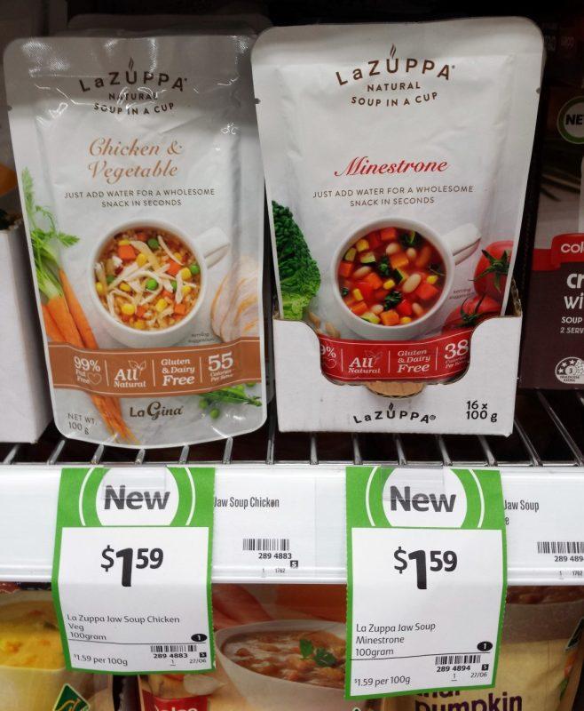 La Zuppa 100g Soup Chicken & Vegetable, Minestrone