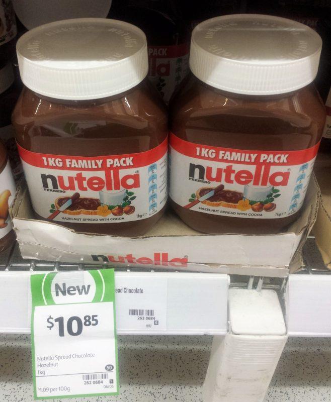 Nutella 1kg Chocolate Hazelnut Spread