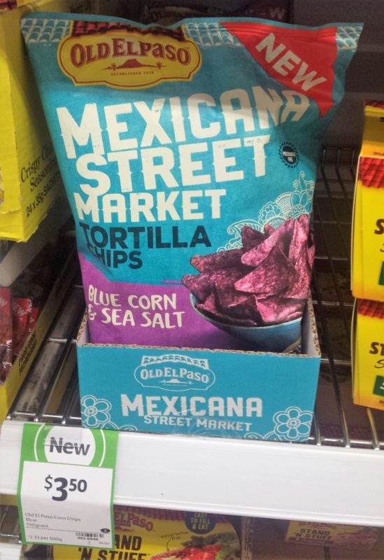 Old El Paso 150g Mexicana Street Market Tortilla Chips Blue Corn & Sea Salt