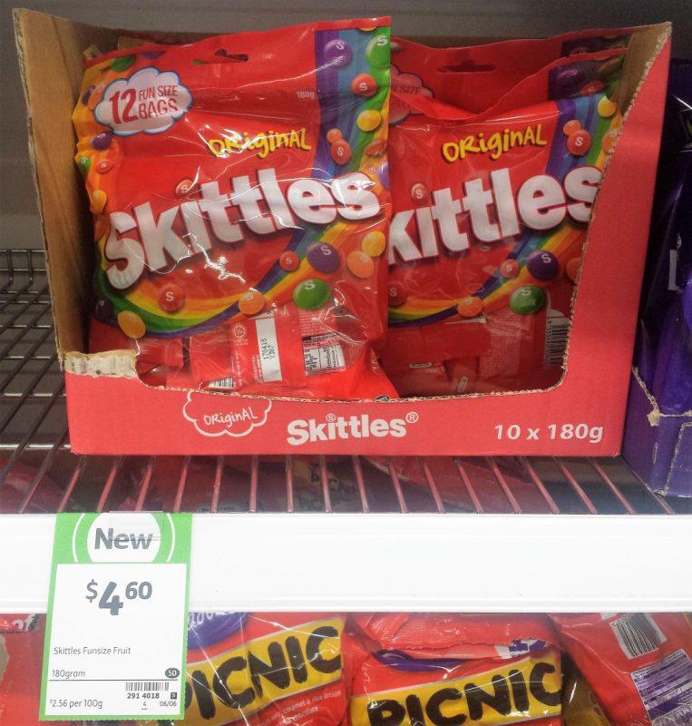 Skittles 180g Original Fun Size Bags