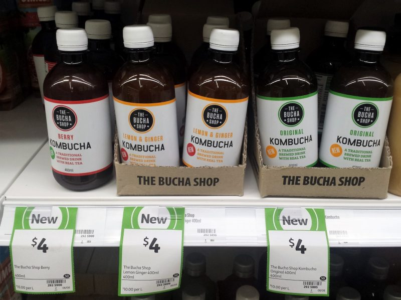 The Bucha Shop 400mL Kombucha Berry, Lemon & Ginger, Original