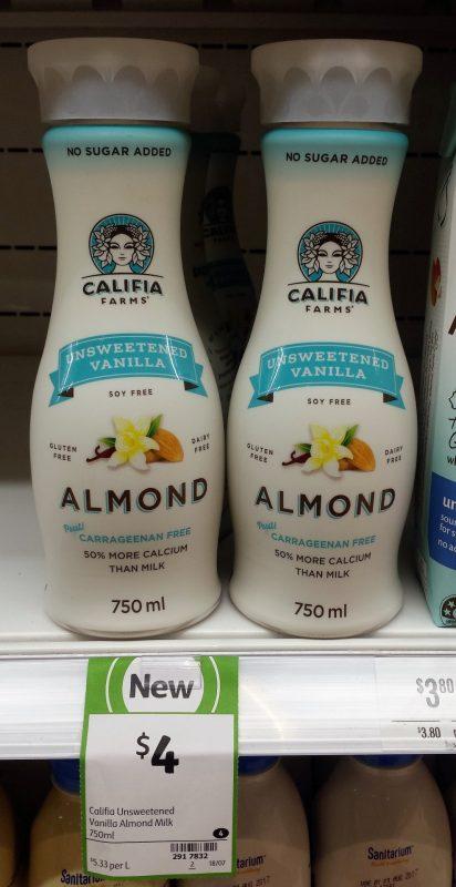 Califia Farms 750mL Unsweetened Almond Milk Vanilla