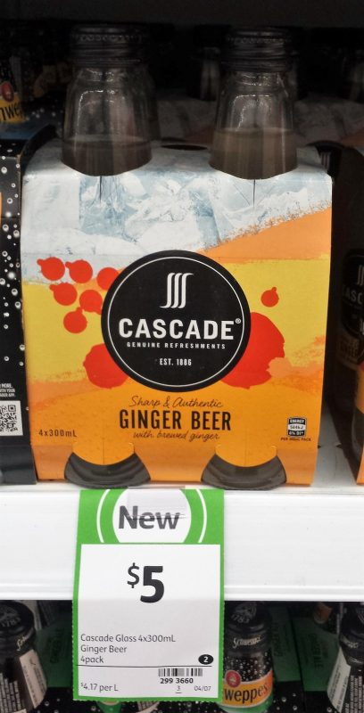 Cascade 4 X 300mL Ginger Beer