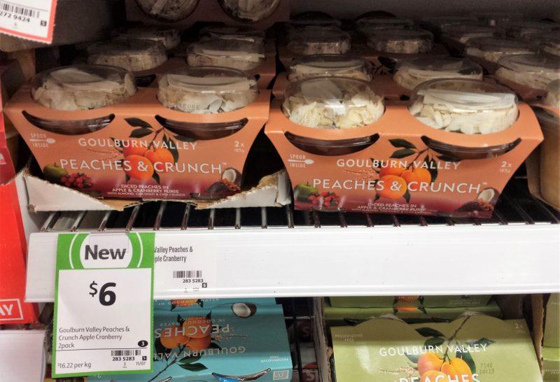 Goulburn Valley 2x185g Peaches & Crunch