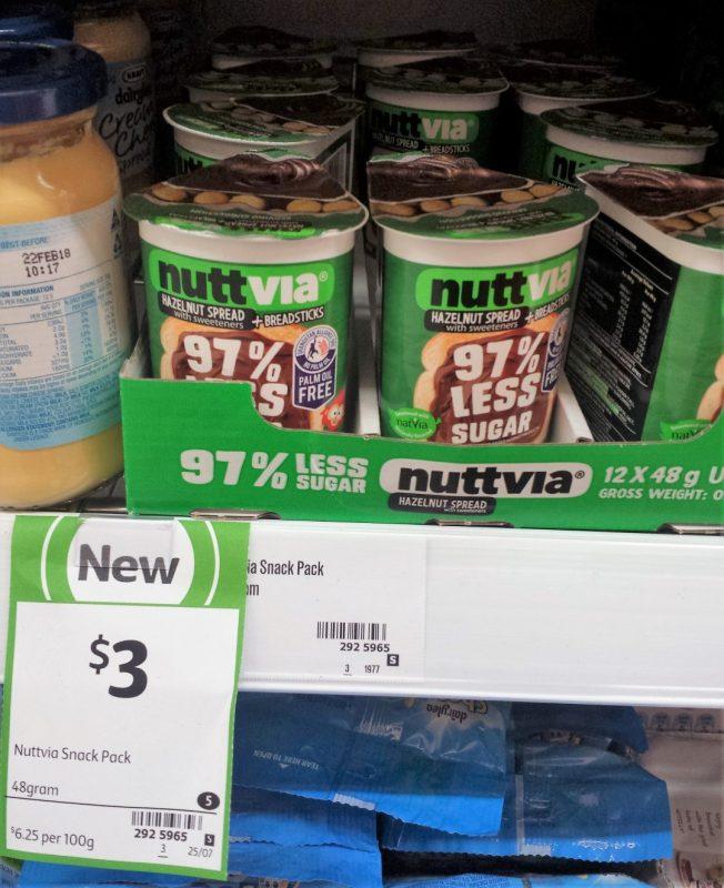 Nuttavia 48g Hazenut Snack Pack
