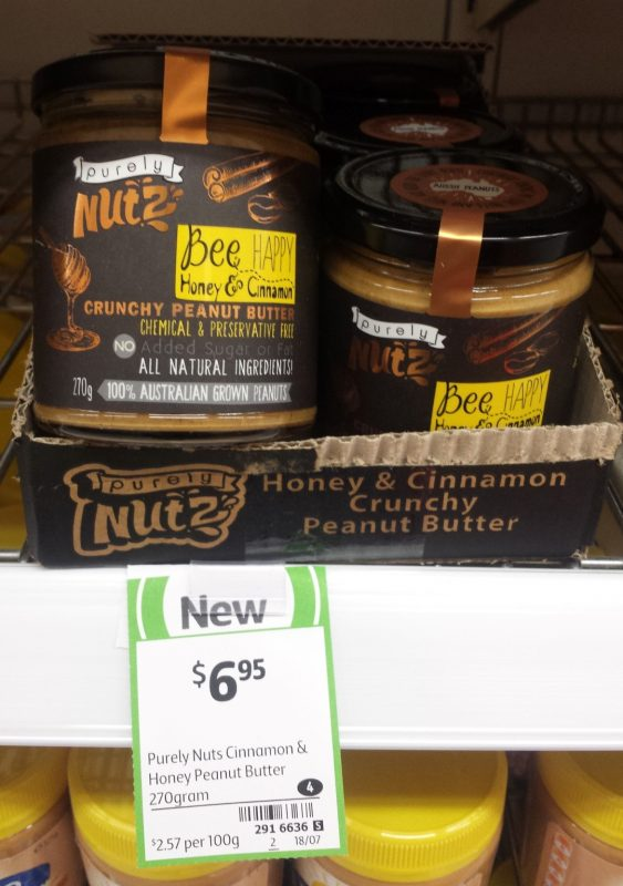 Purely Nutz 270g Honey & Cinnamon Crunchy Peanut Butter