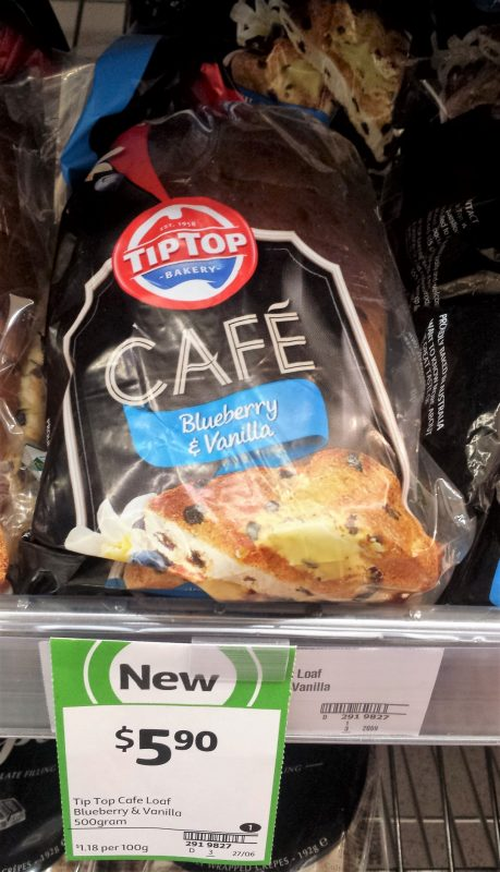 Tip Top 500g Cafe Loaf Blueberry & Vanilla