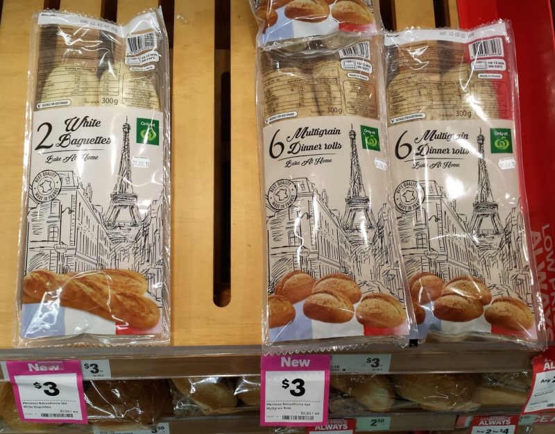 Woolworth 300g Bake At Home White Baguettes, Dinner Rolls
