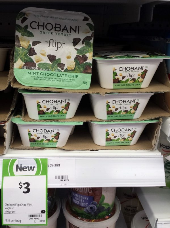 Chobani 140g Flip Mint Chocolate Chip
