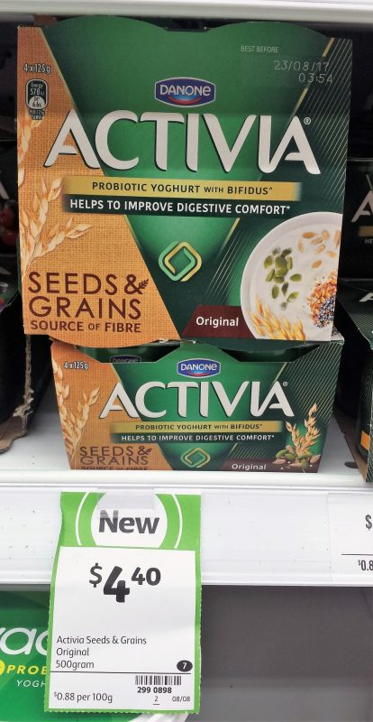 Danone 500g Activia Original Seeds & Grains
