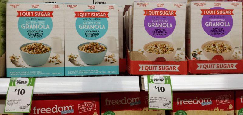I Quit Sugar 400g Granola Coconut & Cinnamon Clusters, Almond Coconut & Cinnamon