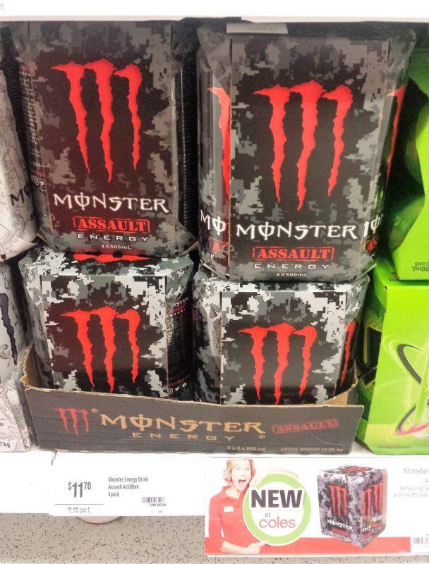 Monster 4 X 500mL Assault Energy Drink