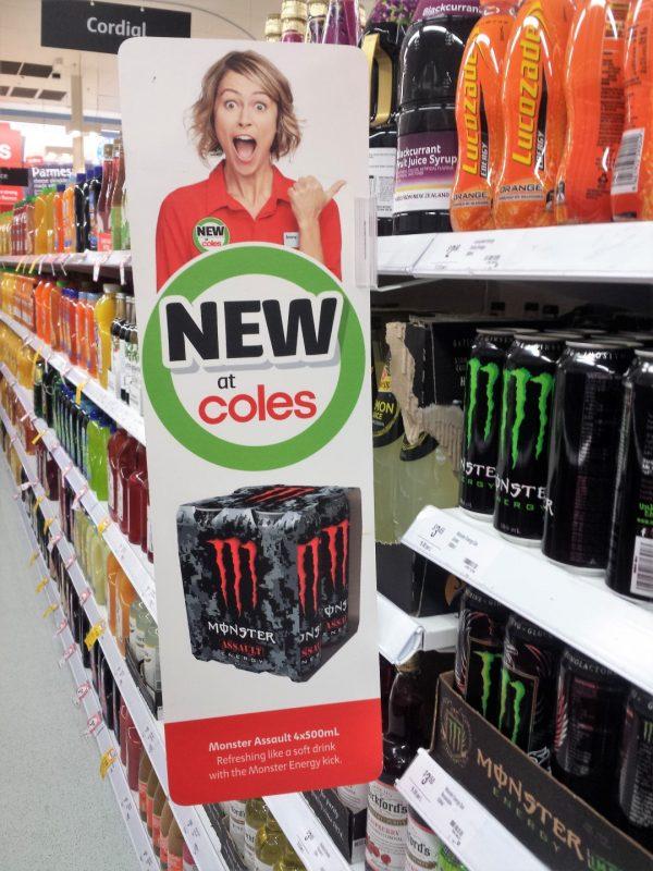 Monster Assult Energy Drink New Girl Jenny