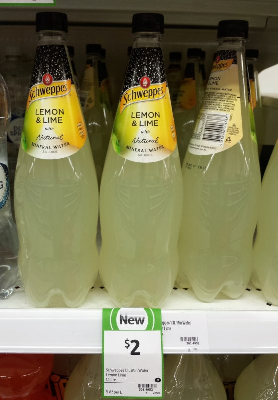 Schweppes 1.1L Mineral Water Lemon & Lime