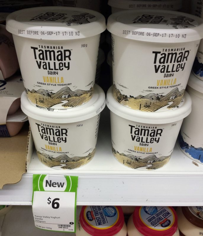 Tamar Valley Dairy 700g Greek Style Yoghurt Vanilla