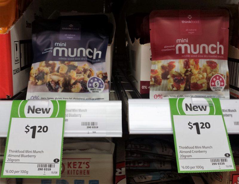 Thinkfood 20g Mini Munch Almond Blueberry, Almond Cranberry