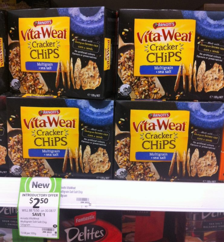Aanott's 120g VitaWeat Cracker Chips Multigrain & Sea Salt