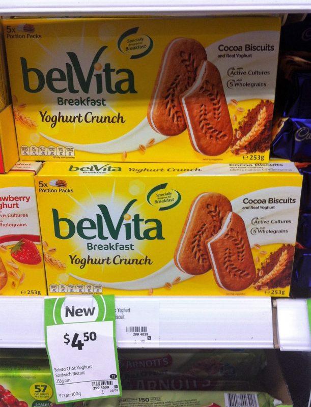 Belvita 253g Yoghurt Crunch Cocoa Biscuits