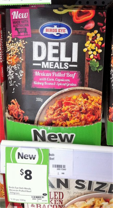 Birds Eye 350g Deli Meals Mexican Pulled Beef With Corn, Capsicum, Kidney Beans & Spiced Grains