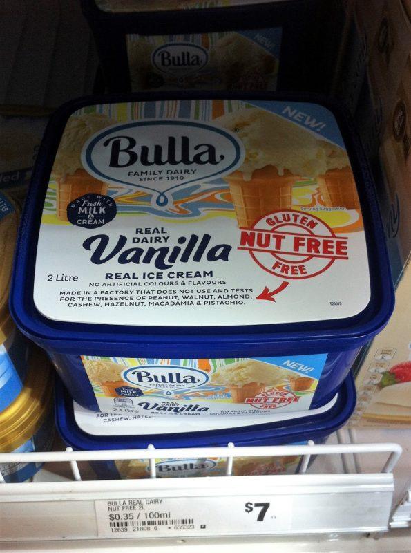 Bulla 2L Real Dairy Vanilla Ice Cream Gluten & Nut Free
