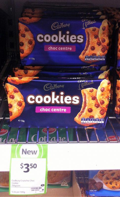 Cadbury 156g Cookies Choc Centre