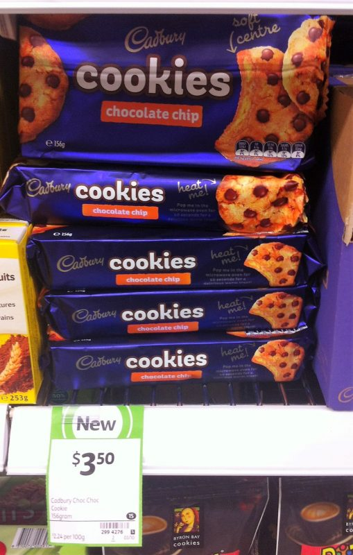 Cadbury 156g Cookies Chocolate Chip