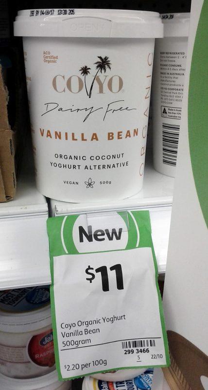 CoYo 500g Dairy Free Organic Coconut Yoghurt Alternative Vanilla Bean