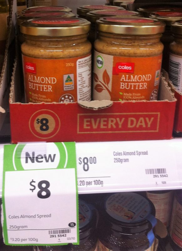 Coles 250g Almond Butter Spread