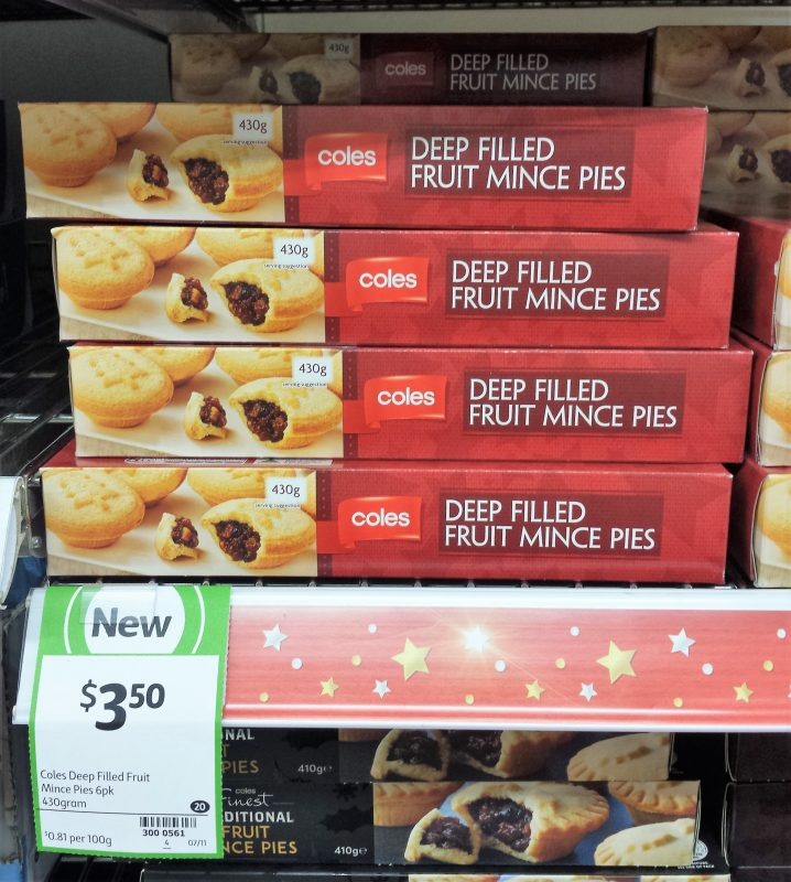 Coles 430g Deep Filled Fruit Mince Pies
